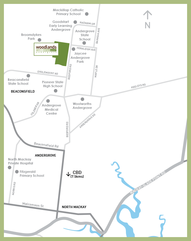 Woodlands Andergrove mud map